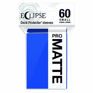 Eclipse Pro Matte: Pacific Blue Small Card Sleeves (62mm x 89mm)