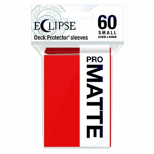 Eclipse Pro Matte: Apple Red Small Card Sleeves (62mm x 89mm)