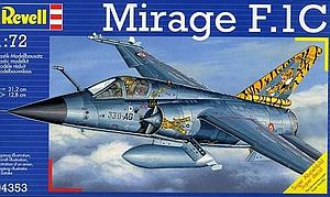 Revell Germany 1:72 Scale Model Kit Mirage F.1C (04353)
