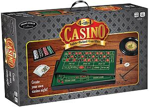 4-in-1 Casino: Roulette, Blackjack, Craps & Poker