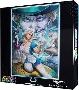 Jasco 500 Piece Foil Puzzle Grimm Fairy Tales - Alice in Wonderland