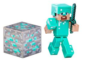 "Minecraft 3"" Figure Series 2: Steve with Diamond Armor"