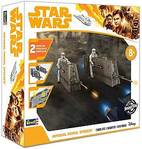 Revell USA Solo Star Wars SnapTite 1/28 Scale Model Kit Imperial Patrol Speeder (85-1676)