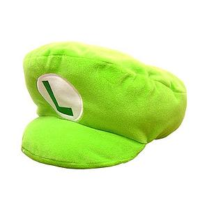 "Plush Toy Super Mario Bros 12"" Luigi Hat"