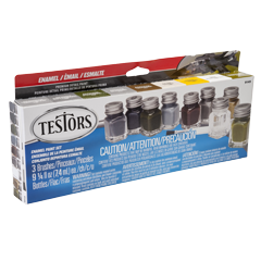 TESTORS Military Enamel 9-bottle Paint Set (9149)