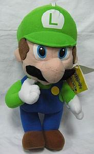 "Plush Toy Super Mario Bros 12"" Luigi Standing"