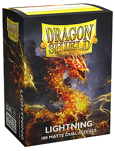 Dragon Shield Sleeves Standard Size: Dual Lightning Matte