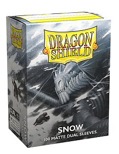 Dragon Shield Sleeves Standard Size: Dual Snow Matte