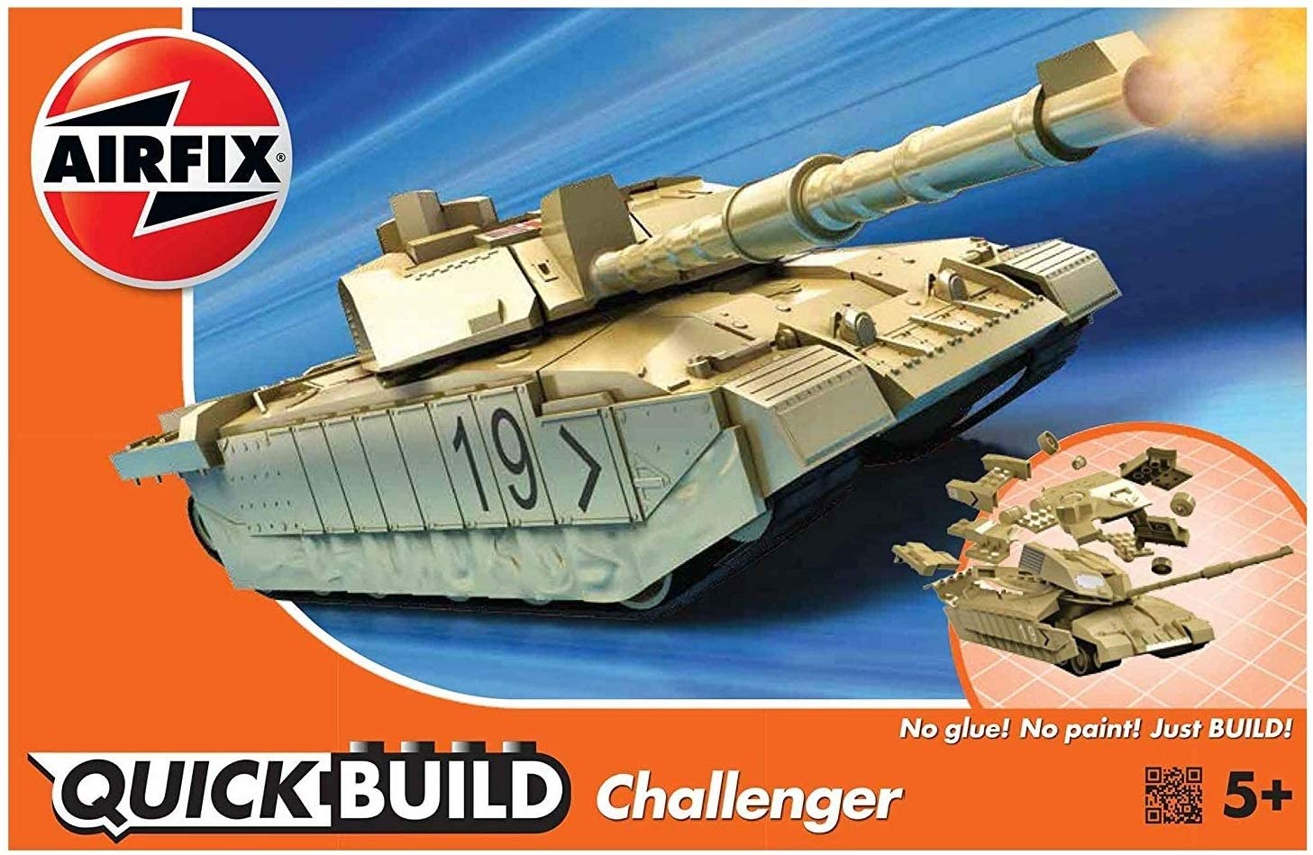 AIRFIX Plastic Model Kit Quick Build Challenger Tank (J6010)