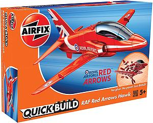 AIRFIX Plastic Model Kit Quick Build RAF Red Arrows Hawk (J6018)
