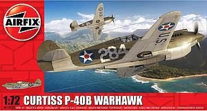 Airfix 1:72 Scale Plastic Model Kit Curtiss P-40B Warhawk (A01003B)