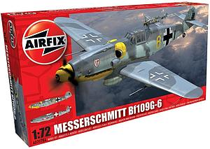 Airfix 1:72 Scale Plastic Model Kit Messerschmitt Bf109G-6 (A02029A)