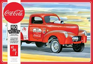 AMT 1:25 Scale Model Kit '40 Willys Pickup Truck (Coca-Cola) (AMT1145M)