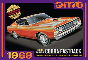 AMT 1:25 Scale Model Kit 1969 Ford Torino Cobra Fastback (AMT1217)