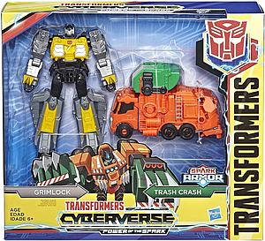 Transformers Cyberverse Power of the Spark Elite Class Grimlock and Trash Crash