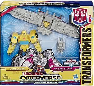 Transformers Cyberverse Power of the Spark Elite Class Bumblebee and Ocean Storm