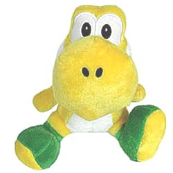 "Super Mario Bros Plush Yoshi Yellow (12"")"
