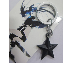 Black Rock Shooter Keychain: Black Star