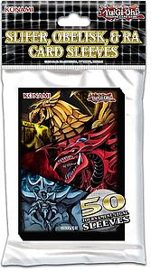 YuGiOh! Card Sleeves 50 Pack Small Size: Slifer, Obelisk & Ra