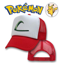 Pokemon Cosplay Hat / Cap Ash Ketchum's (Original Series) (Mesh Snapback)
