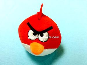 "Plush Toy Angry Birds 3"" Red Bird"