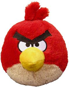 "Plush Toy Angry Birds 5"" Red Sound Bird"