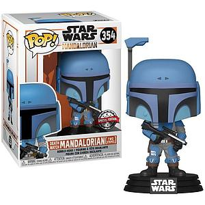 Pop! Star Wars The Mandalorian Vinyl Bobble-Head Death Watch Mandalorian (Two Stripes) #354 Special Edition
