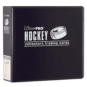 "3"" Black Hockey Collectors Trading Card Album"
