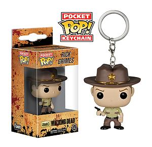 Pop! Pocket Keychain The Walking Dead Vinyl Figure Rick Grimes