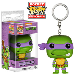 Pop! Pocket Keychain Teenage Mutant Ninja Turtles Vinyl Figure Donatello