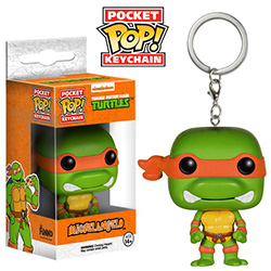 Pop! Pocket Keychain Teenage Mutant Ninja Turtles Vinyl Figure Michelangelo