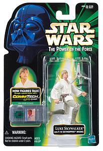 "Star Wars The Power of the Force Commtech 3.75"" Action Figure Luke Skywalker (Trilingual Package)"