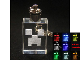 Minecraft Creeper Keychain LED 2