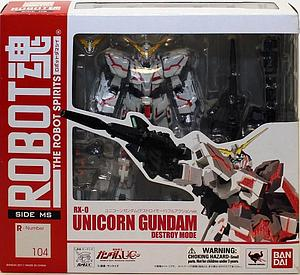 The Robot Spirits Damashii Model Kit: R104 RX-0 Unicorn Gundam Destroy Mode
