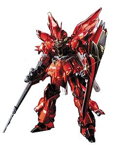 Gundam High Grade Universal Century 1/144 Scale Model Kit: MSN-06S Sinanju (Titanium Finish)