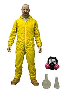 Toys Breaking Bad 6 Inch: Heisenberg (Walter White) Yellow Hazmat Cook-Suit