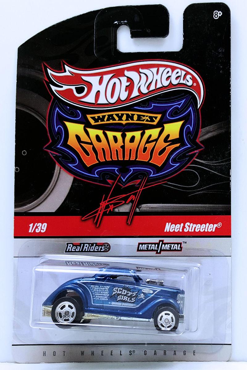 Hot Wheels Wayne/'s Garage #1 Blue Neet Streeter w//Real Rides
